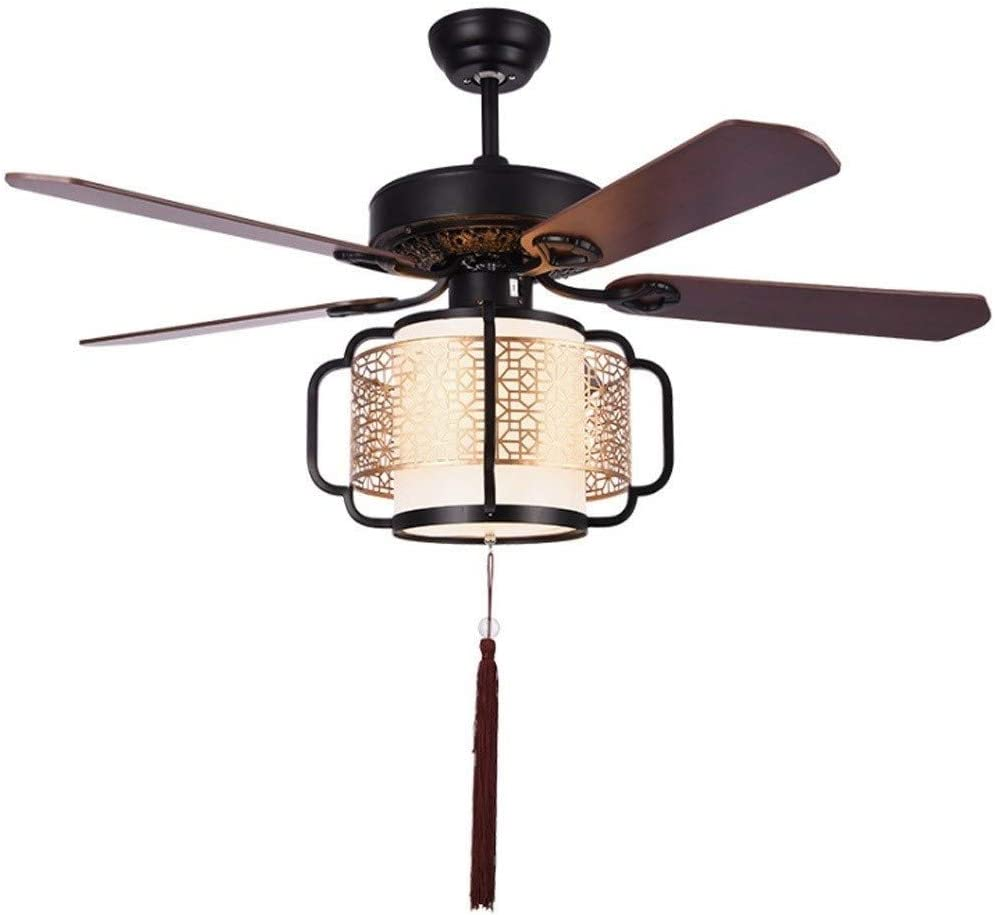 Amazon Com Chinese Ceiling Fan Light 52 Inch Ceiling Fan Light Solid Wood Fan Blade Living Room Bedroom Mute With Light Remote Control Size 52inch Kitchen Dining