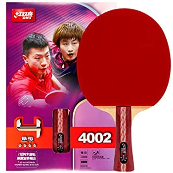 DHS Table Tennis Racket 4002 Ping Pong Paddle Table Tennis Racquets - Shakehand with LANDSON Rubber Protector