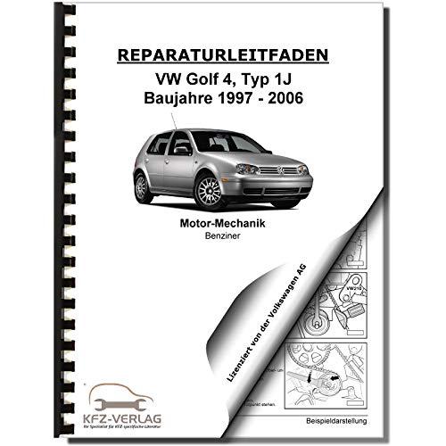 VW Golf 4 1J (97-06) 4-Zyl. 1,6l Benzinmotor 100 PS Mechanik Reparaturanleitung
