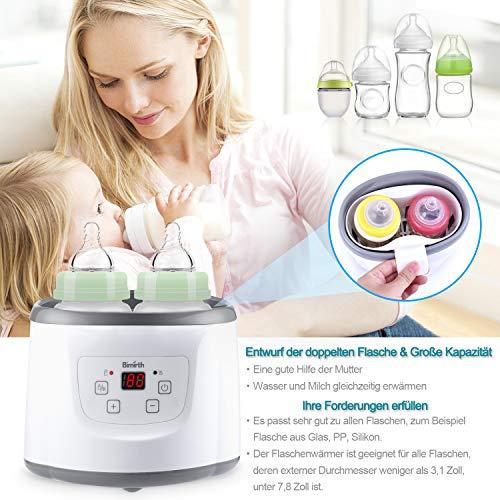 Baby Bottle Warmer Flaschenwärmer Flaschen Sterilisator 4 -in -1 Intelligenter Flaschenwärmer und Baby-Lebensmittel-Heizungsgerät für Muttermilch oder Babymilchpulver mit LCD-Echtzeit Anzeige Schnelle Erwärmung und genaue Temperaturkontrolle - 8