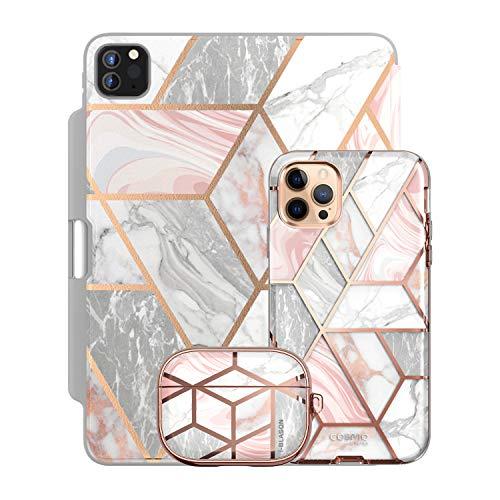 i-Blason Cosmo Pink Trio Bundle - iPhone 12 Pro Max 6.7', iPad Pro 12.9' & AirPods Pro Case