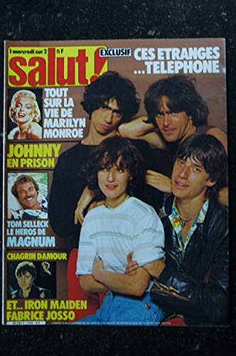 SALUT ! 169 MARS 1982 COVER TELEPHONE IRON MAIDEN MAGNUM TOM SELLECK MARILYN MONROE