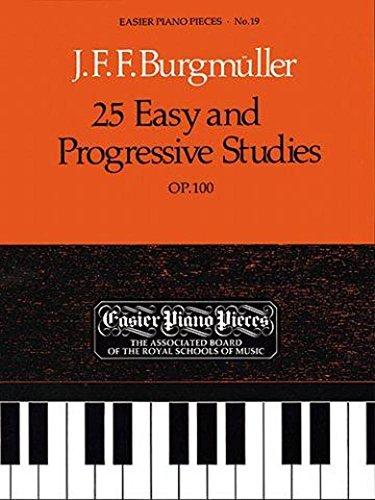 25 lichte etüden op. 100 voor piano incl. praktische notenklem - het standaardwerk voor pianoonderwijs in klassieke uitgave uitgegeven door Adolf Ruthardt (broched) van Friedrich Burgmüller (noten/Sheetmusic)