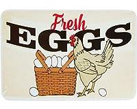 新鮮な卵、ブリキのサインヴィンテージ面白い生き物鉄の絵の金属板ノベルティ