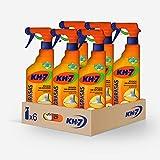 KH-7 Quitagrasas Pulverizador | Producto De Limpieza Cocina | Desengrasante| Máxima Eficacia | Para Todo Tipo De Superficies Y Ropa | Pack De Es Pulverizadores De 750 Ml, Naranja, 6 Unidades