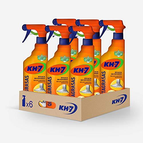 KH-7 | Fettentferner | Maximale Wirksamkeit 750 ml | Bequemes und praktisches Format | Für alle Arten von Oberflächen und Kleidung | 6er Pack 810 g