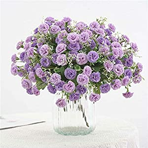 Artificial and Dried Flower Fake Silk Flower 20 Flowers Hydrangea Home Party Garden Small Lilac Flowers – ( Color: Purple )
