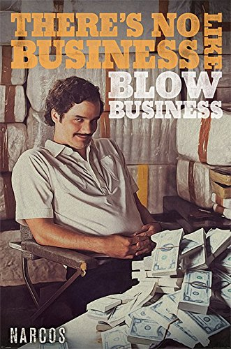 Narcos No Business Maxi Poster, Holz, Mehrfarbig