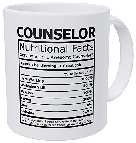 Wampumtuk Counselor Nutritional Facts Funny Coffee Mug 11 Ounces Inspirational And Motivational