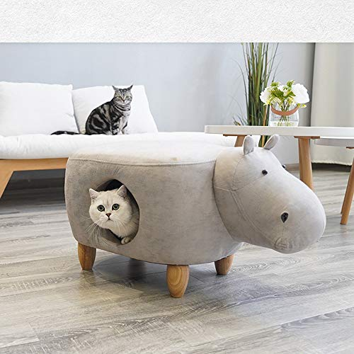 QNMM La Cama para Mascotas Puede Acomodar Taburete Creativo Multifuncional Doghouse Cat Litter Furniture Cat Climbing Fram