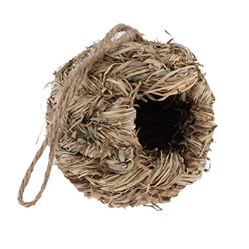 Homyl Nid d'oiseaux Oiseaux Sauvages Nichoirs Élevage Paille Gourd D'incubation - B: Herbe Ronde