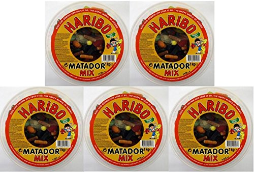 5 x DÄNISCHER HARIBO MATADOR MIX 1000g DOSE