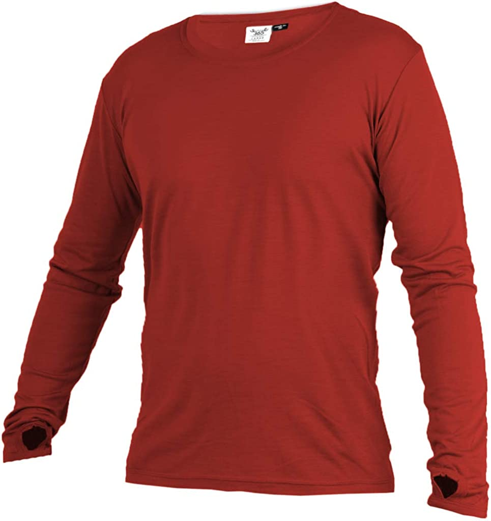 Merino 365 New Zealand 100% Merino Longsleeve Baselayer with Thumbloops - Select Color and Size