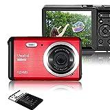 Vmotal GDC80X2 Mini Fotocamera digitale compatta 12 MP HD 2,8' TFT LCD Fotocamera per bambini/principianti/anziani Regalo di Natale (Rosso & Nero)