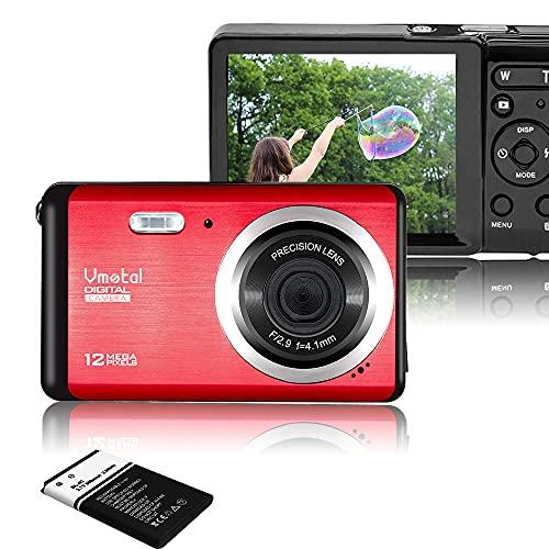 "Vmotal GDC80X2 Mini cámara Digital compacta 12 MP HD 2,8"" TFT LCD para niños/Principiantes/Ancianos (Rojo & Negro)"