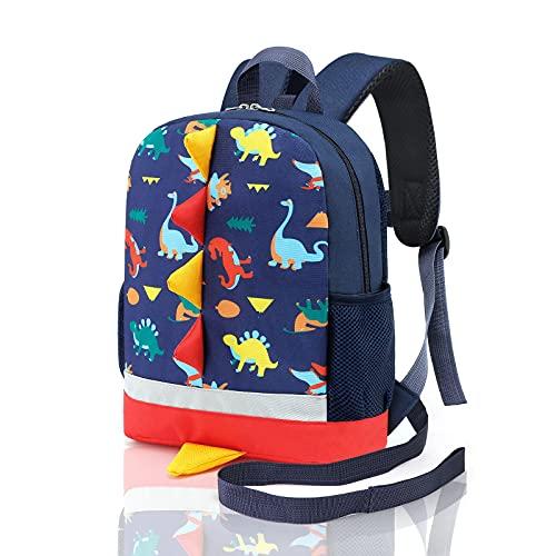 Mtophs Toddler Nursery Backpack Kids Rucksacks with Reins for Boys Dinosaur...