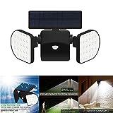 Sensore di luce: i fari solari hanno un sensore di luce integrato, che si spegne automaticamente durante il giorno e accetta la carica solare e si avvia automaticamente di notte. Funzione rilevatore di movimento: movimento del sensore integrato, può ...