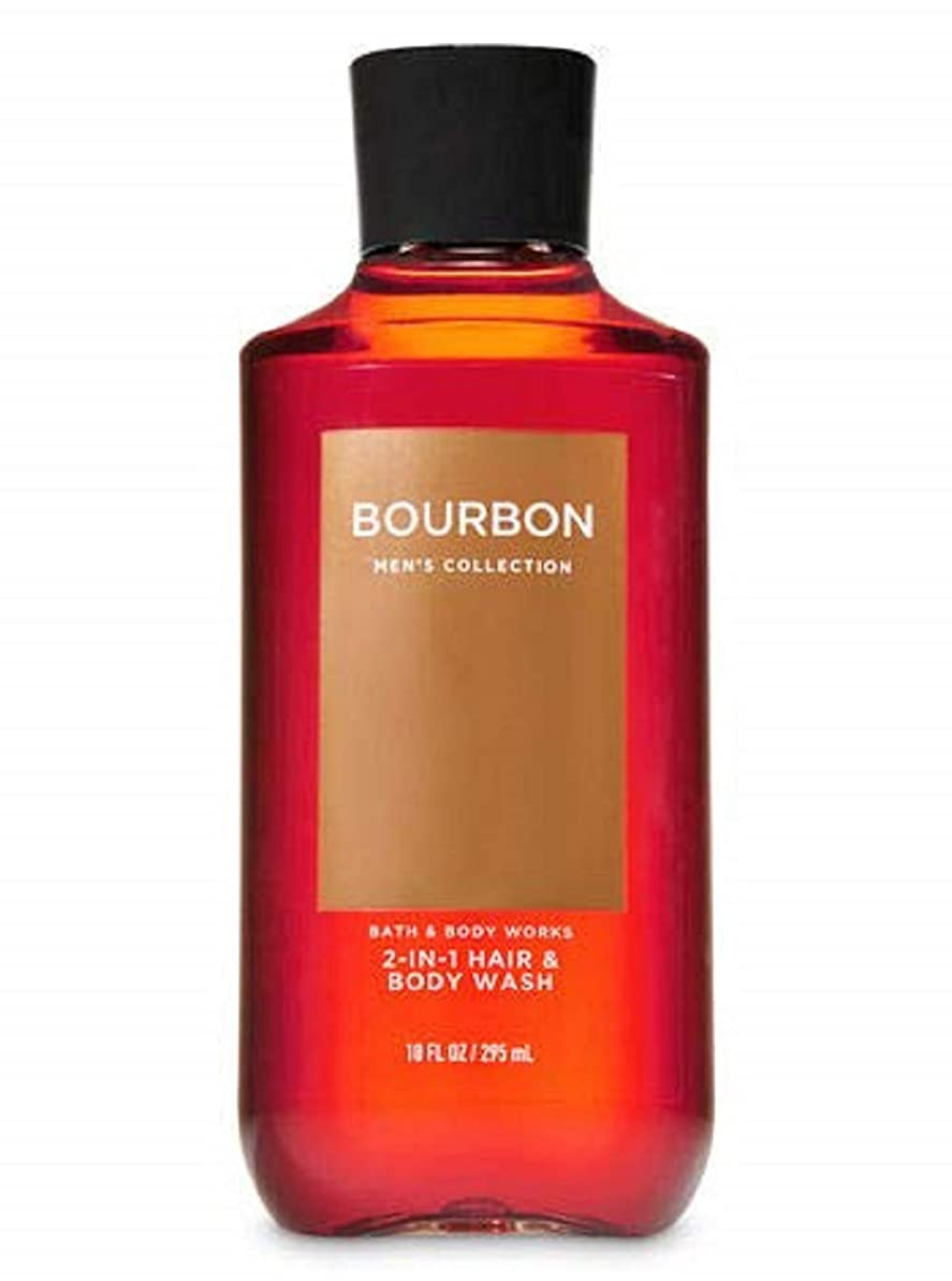 人柄同時遺棄された【並行輸入品】Bath & Body Works Bourbon 2-in-1 Hair + Body Wash 295 mL
