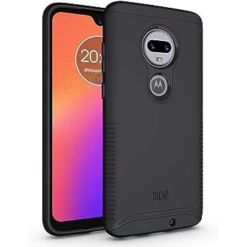 TUDIA DualShield Designed for Moto G7 Case/Moto G7 Plus Case, [Merge] V2 Heavy Duty Protection Slim Hard Shell Phone Case for Motorola Moto G7/G7 Plus (Matte Black)