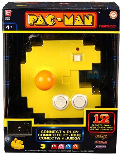 Pac-Man 38885E Bandai Connect & Play Console-12 Built in Retro Arcade...