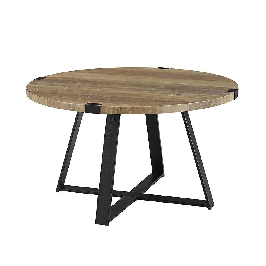 WE Furniture AZF30MWCTRO Coffee Table, Rustic Oak