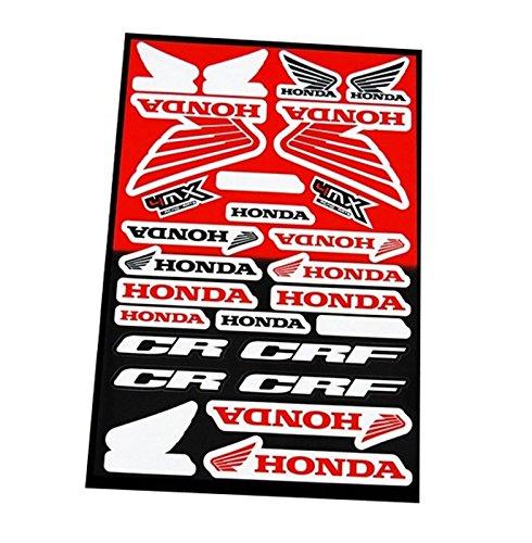ONOGAL 6335 Aufkleber aus Vinyl für Motorrad, Honda, Tuning, Tuning, Restaure, 24 Stück