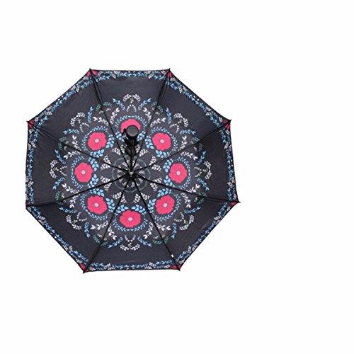 SFSYDDY-Ultra Light Paraplu Mini Paraplu Dual-Purpose Zwarte Lijm Paraplu Zonnebrandcrème En Zonnescherm Paraplu.L