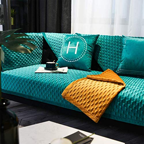 Fluwelen pluche bankstelhoes, l-vorm sofa hoes bank, 1-delige bankhoes, bankhoes sectionele Eenvoudige installatie voor huisdieren-a 70x70cm