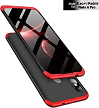 TheGiftKart Full Body 3 in 1 Slim Fit 360 Degree Protection Hard Bumper Back Case Cover for Xiaomi Redmi Note 6 Pro (Red Black)
