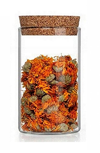 Casavetro Tapón de corcho transparente Botellas de vidrio vacías 200 ml - Tapas de corcho recargables reutilizables - Apretado al aire para endrinas Gin Aceite Vinagre Cerveza Vino Sidra(12 x 200 ml)