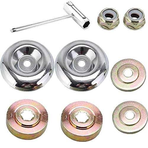 Mikqky 5 Piezas de Accesorios para Desbrozadoras de Metal, Pieza de Desbrozadora, Adecuado para Piezas de Cortacésped de Metal en General Césped Stihl Fs120 Fs130 Fs130R Fs200 Fs200R Fs250 Fs55