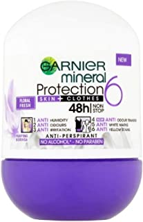 Garnier Mineral Roll On Antiperspirant Deodorant 48 Hours Protection Floral Fresh - 50 mL/1.69 fl oz