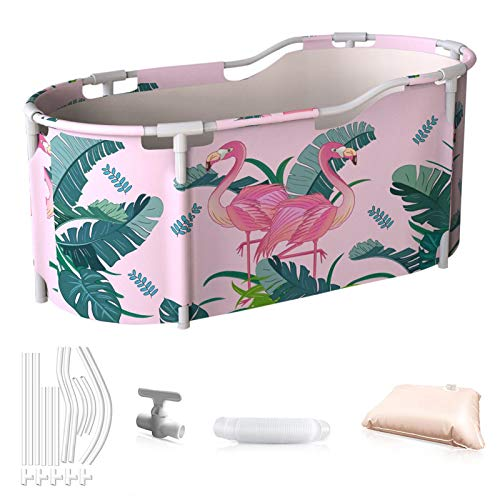 Badewanne Bathtub Faltende Wannenbad Klapp Badewanne für Erwachsene Badewanne aus PVC Dusche Mobile Badewanne Tragbare Spa-Haushaltsbadewanne mit Badzubehör-117cmx70cmx50cm