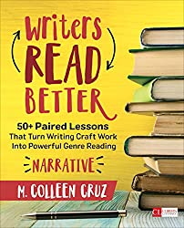 This is a screenshot of the cover of the book Writers Read Better: Narrative by M. Colleen Cruz.