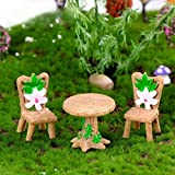beautijiam Juego de Mini sillas de Mesa para decoración de casa de muñecas en Miniatura