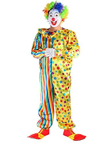 THEE Disfraz de Payaso de Halloween Clown Cosplay Costume