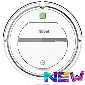 Aiibot Robot Vacuum Cleaner with 3-Stage Cleaning System, Intelligent Fall Arrest Sensor, HEPA Filter, for Apartments/Small House/Hard Floor/Low-Pile Carpet