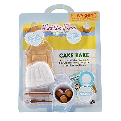 Lottie Cake Bake Puppenzubehör | Kochpuppenzubehör | Puppenschürze | Puppen-Backset | Puppenkochzubehör | Puppen-Küchenzubehör | Cupcake-Puppenzubehör | Bäckerpuppe | Kochpuppe