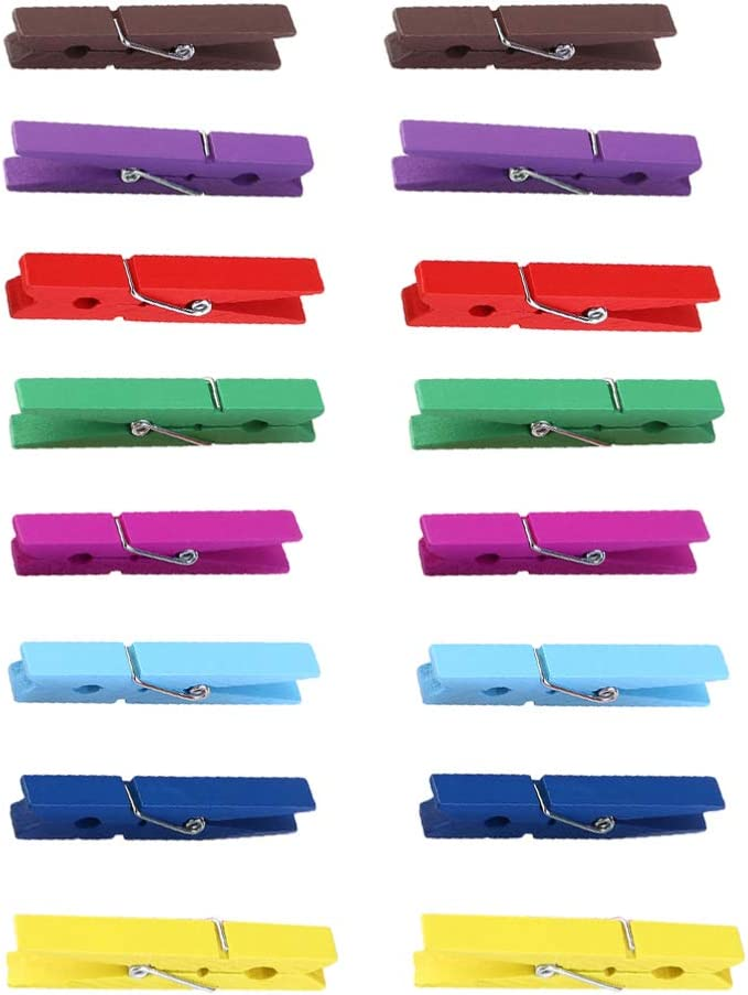 DOITOOL 40pcs Superlatite Mini Wooden Clips Colorful N Discount mail order Photo Card Clothespin