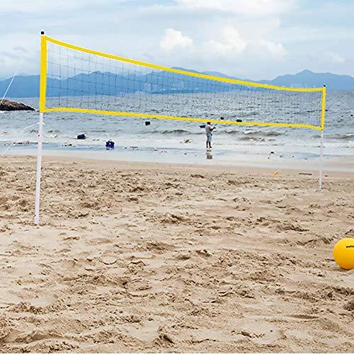 Red de Voleibol portátil al Aire Libre Red de Tenis de bádminton de Voleibol Ajustable Plegable para Jugar Voleibol para niños, Tenis de fútbol, Tenis de césped
