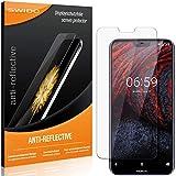 SWIDO Schutzfolie für Nokia 6.1 Plus [2 Stück] Anti-Reflex MATT Entspiegelnd, Hoher Festigkeitgrad, Schutz vor Kratzer/Folie, Bildschirmschutz, Bildschirmschutzfolie, Panzerglas-Folie