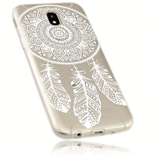 mumbi Hülle kompatibel mit Samsung Galaxy J5 2017 Handy Case Handyhülle dünn mit Motiv Traumfänger, transparent