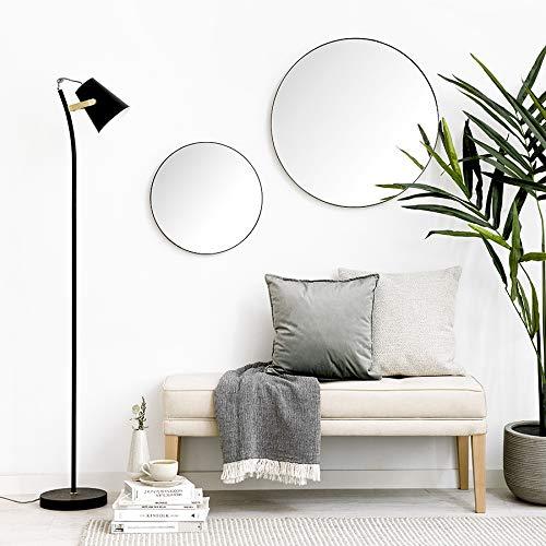Kenay Home Egel Negro Espejo Decorativo Pared, D.40