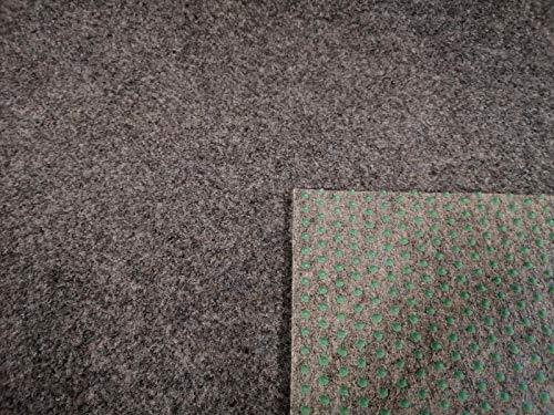 Rasenteppich Kunstrasen Premium grau Velours Weich Meterware, verschiedene Größen, mit Drainage-Noppen, wasserdurchlässig (200x250 cm)