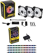 Corsair HD Series, HD120 RGB LED, 120mm High Performance RGB LED PWM three fans with controller and Corsair Lighting Node PRO