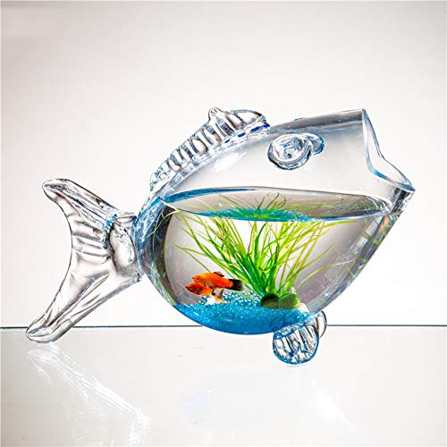 JIANGU Öko-Aquarium aus Glasfischbecken, Wohnzimmertisch-Goldfisch-Schildkrötenfischbecken
