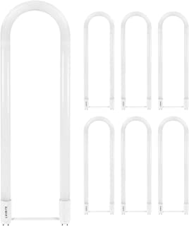 Luxrite U Bend LED Tube Light, T8 T12, 18W (32W Equivalent), 4000K Cool White, 2200 Lumens, Fluorescent Light Tube Replacement, Direct or Ballast Bypass, DLC and ETL Listed, G13 Base (6 Pack)
