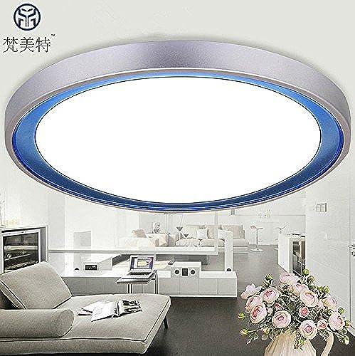 KANG@ Plafond Led Luminaire pour chambre à coucher salle de séjour salle à hommeger moderne et simple de création du corridor,lustre de diam.350mm-18W Blanc Chaud,