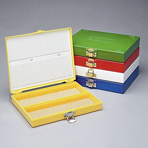 Slide Box, Plastic, Holds 100 Slides, White