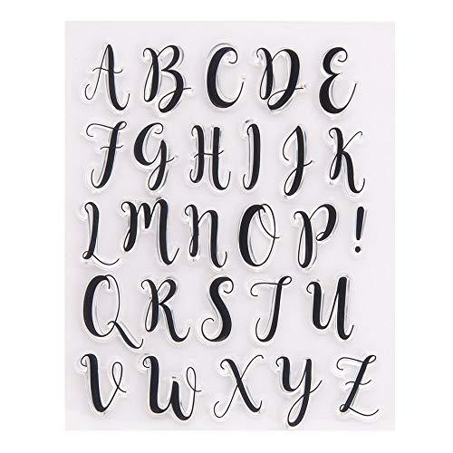 Arrietty Großbuchstaben Alphabet Alphabas ABC Buchstaben klar Stempel für Kartengestaltung Dekoration und DIY Scrapbooking